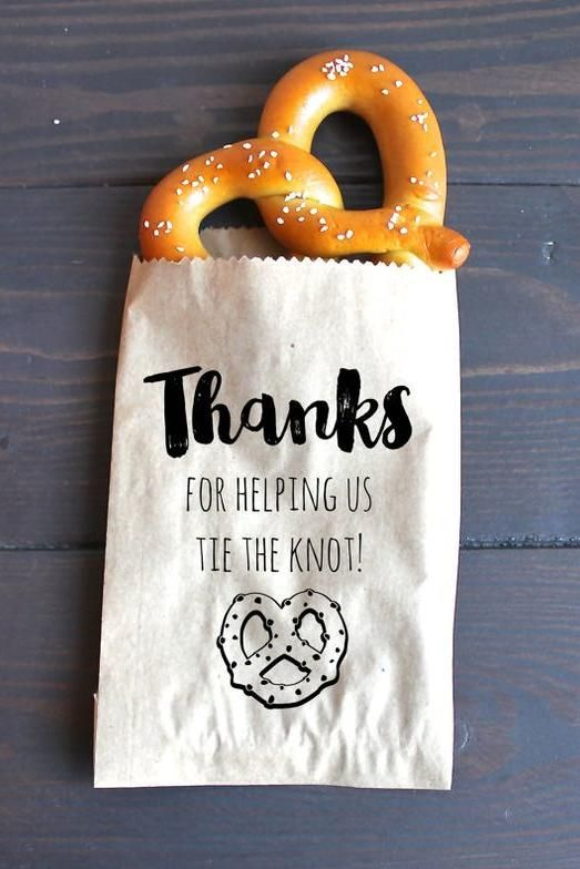 Bid farewell to your guests with an After Party Pretzel. They will gobble them up!