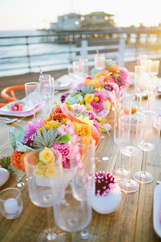 Pop-up wedding beach decor.