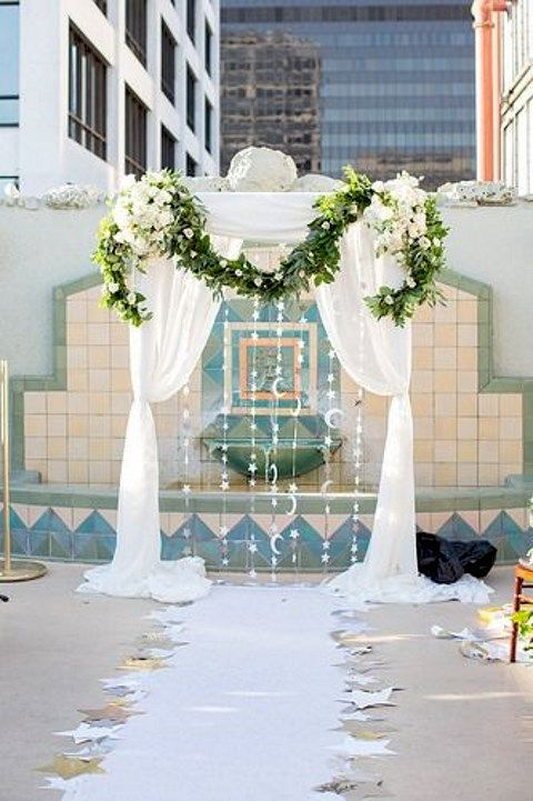 Original art deco wedding arch.