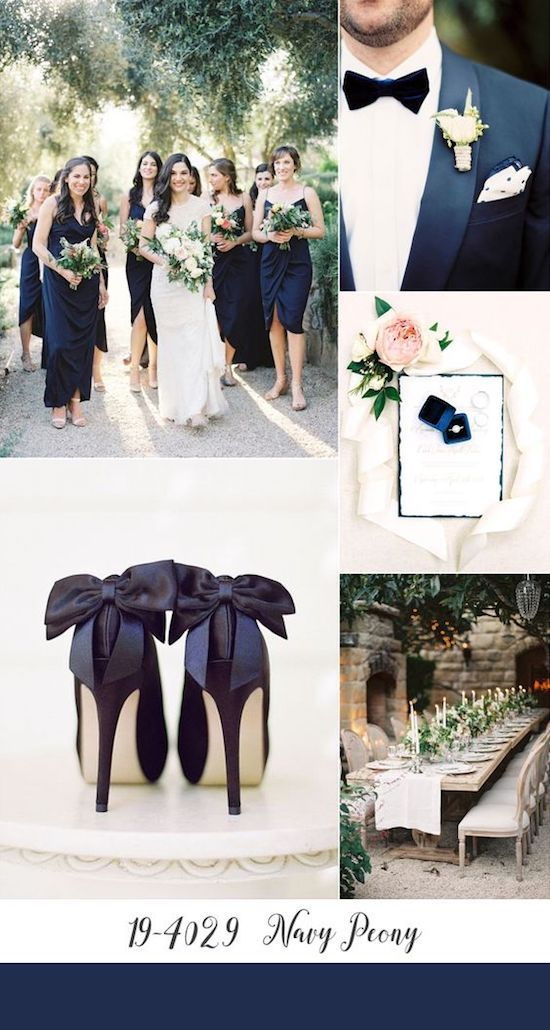 Blush and navy blue wedding for a romantic and snazzy fall reception.