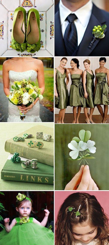 Combinar un vestido verde oliva para una boda
