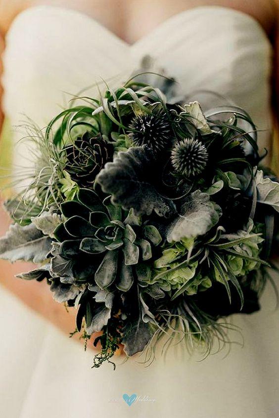 Bouquet de novia invernal.