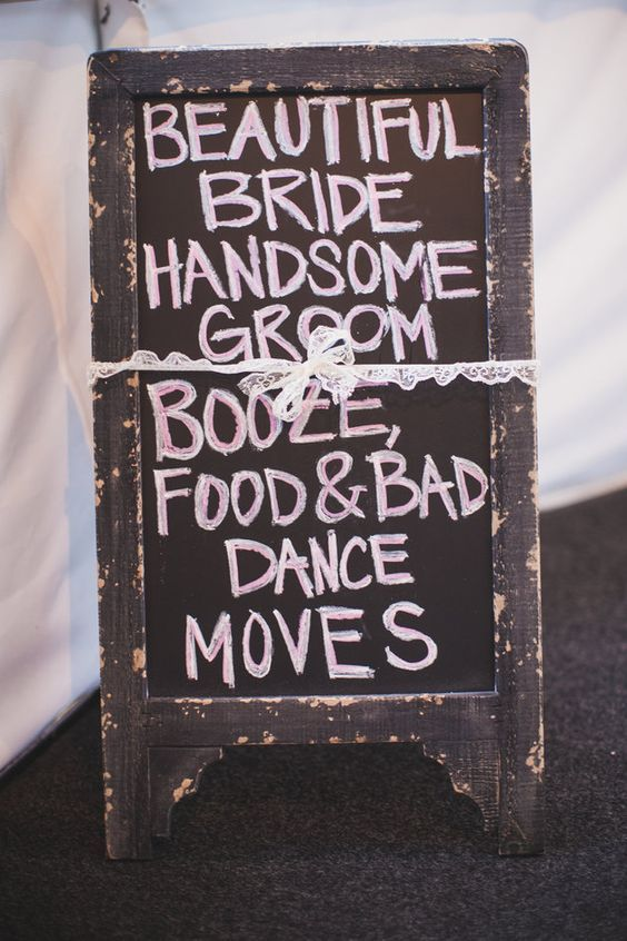 Welcome your revelers with a cheeky sign.