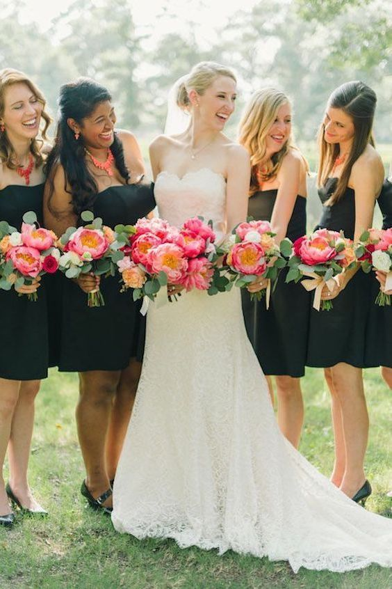 Coral and navy blue wedding by Sarah McKenzie.