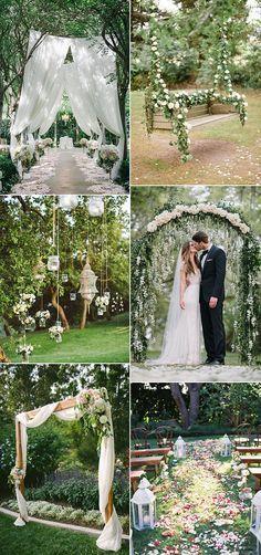 Ideas para decoración de jardines de bodas.