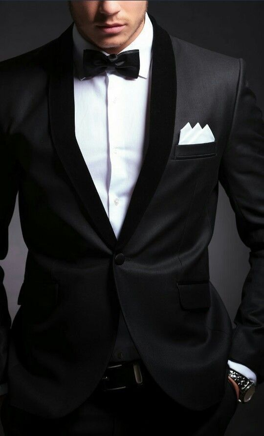 Tailored dinner suit tux for classy grooms.