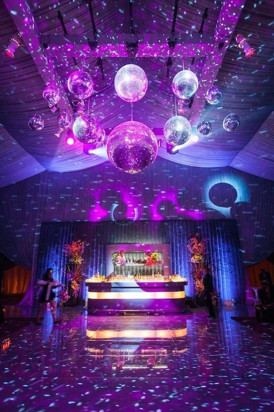 Disco wedding after-party a classic by Revelry Event Design.