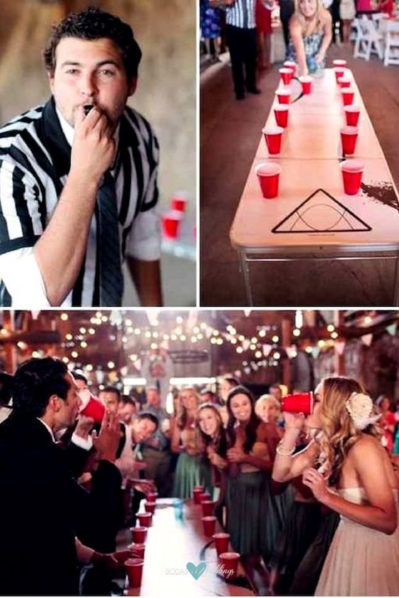 Play a game of flip cup for your after-party.