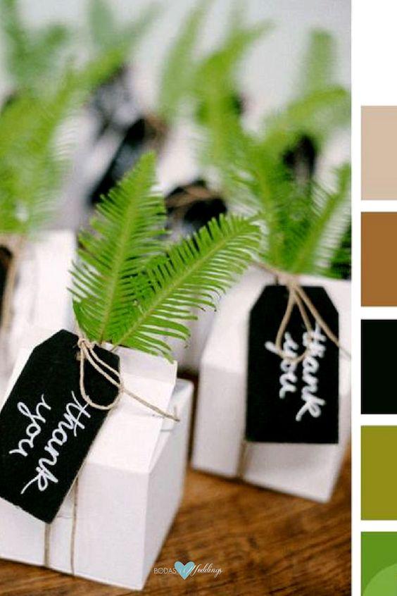 Partiendo del golden lime, suma negro, ocre, beige y blanco. Lista la paleta de colores para la boda.