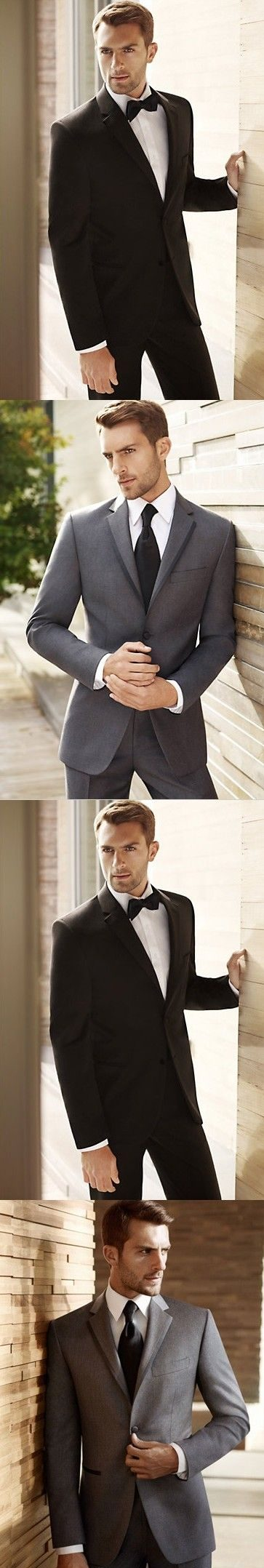 Groom tuxedo collection by Vera Wang. Now it's not just her that can wear Vera. :)