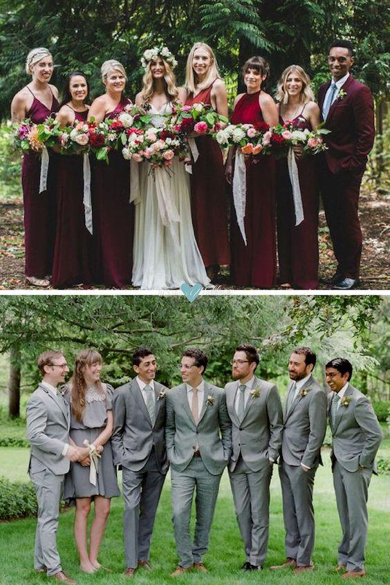 Los mejores looks de damas de honor para una boda millennial. No importa con quién estén, la novia o el novio, Bridesmen y Groomswomen lucen fantásticos. Foto: tworoadseventco y Heather Waraksa.