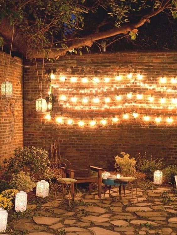 Fairy lights will make your after-party look so magical.