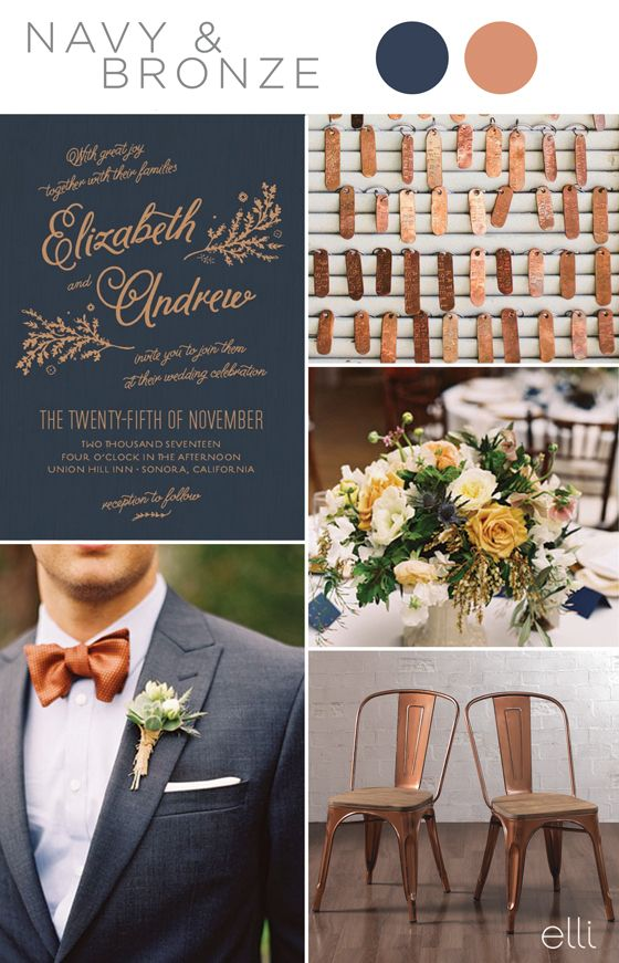 Navy blue wedding color schemes stunning ideas decor navy blue is such a wonderful color as it can be matched with almost any other junglespirit Gallery
