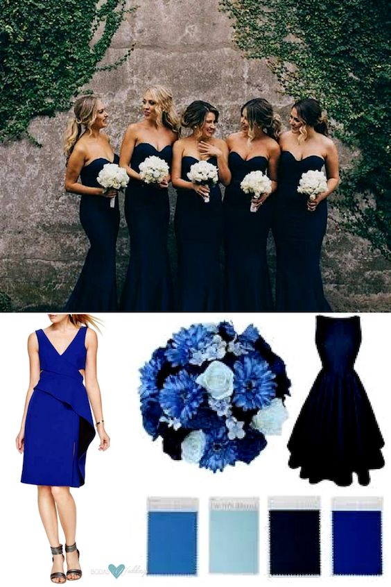 Navy blue wedding inspiration.