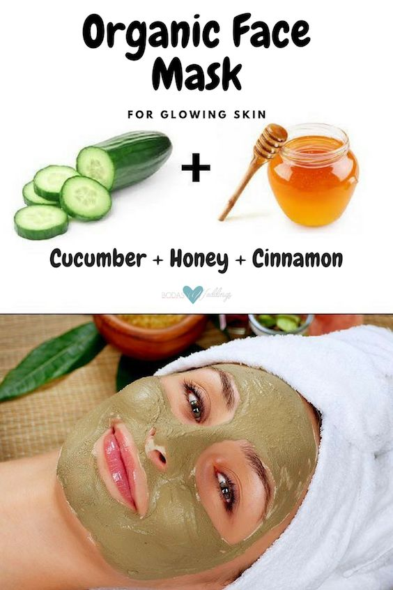 Organic face masks for glowing skin.
