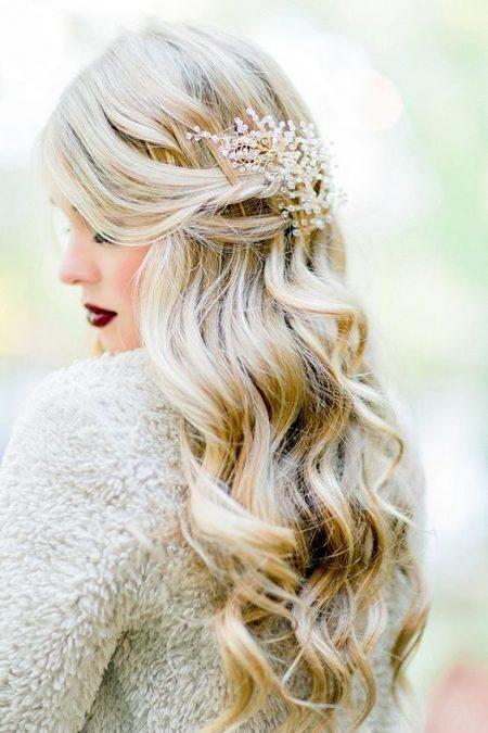 Peinado de novia con ondas. Mikaela Marie Photography.