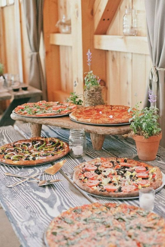 Everyone loves food. Treat your wedding guests to a fabulous pizza bar and they'll walk away singing your praises.