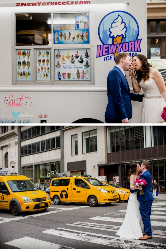 A wedding that stops NYC traffic! Pick the venue, get married and have fun! Wedding planners: Pop the Knot.