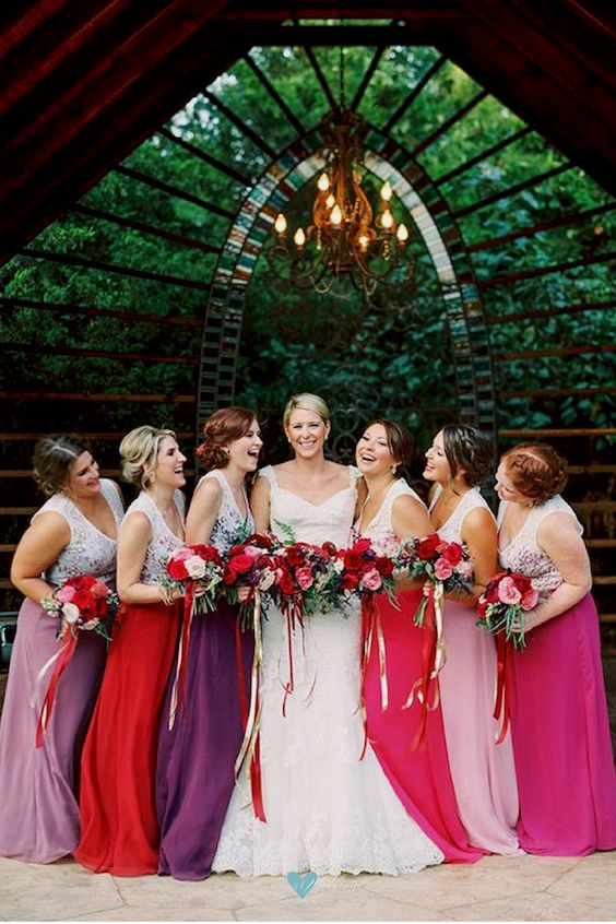 Pop-up weddings are small but you can still have a few bridesmaids. Jessica Gold Photography.