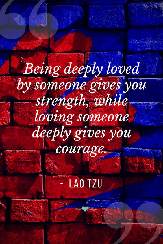 Romantic love quotes. Lao Tzu.