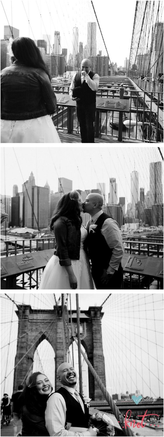 Romantic, urban pop-up wedding in NYC. Eneida & Rafael. Pop The Knot Photography & Wedding Planning.