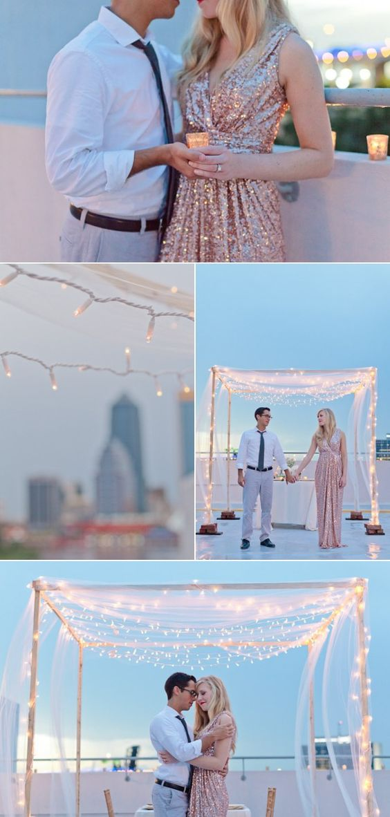 What better venue than a rooftop? Jennifer Blair Photography.
