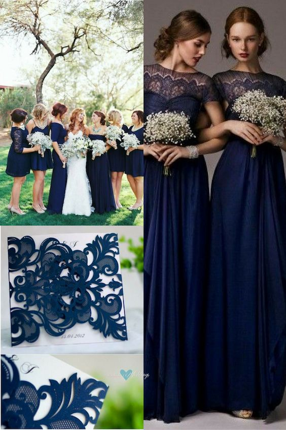 Navy Blue Wedding Color Schemes: Stunning
