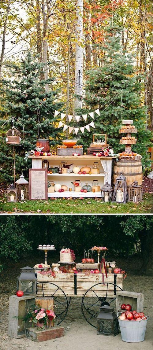 Suma un color subido que contraste con la naturaleza del campo y tendrás una boda digna de Pinterest.