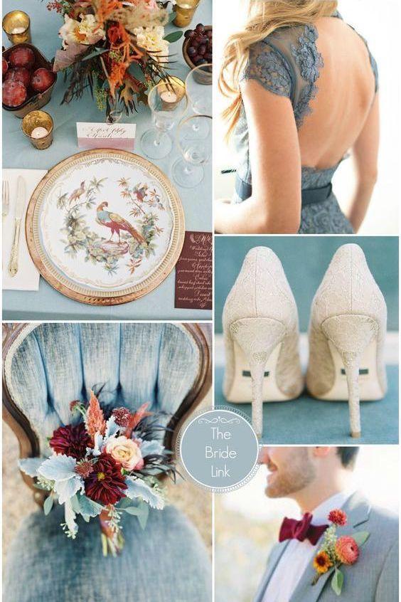 Estos colores generalmente son usados en las bodas invernales. Anímate a usarlas esta primavera, lucirá increíble!