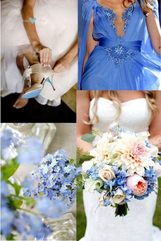 Colores para bodas 2018 de Pantone. ¡Viva el Little Boy Blue!