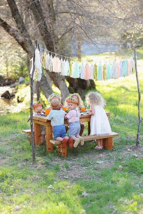 La mesa mas adorable para una boda al aire libre.
