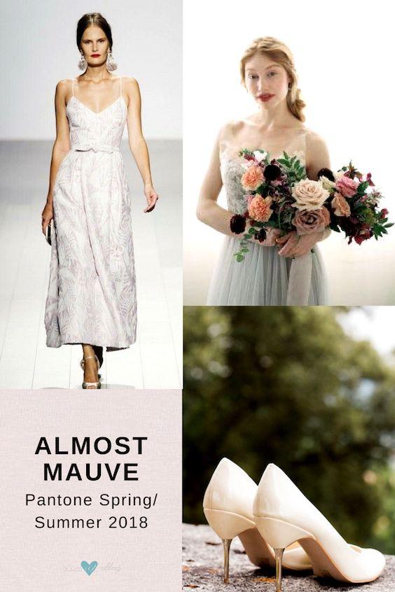 Novias en Casi Malva. Los colores para bodas 2018 de Pantone.
