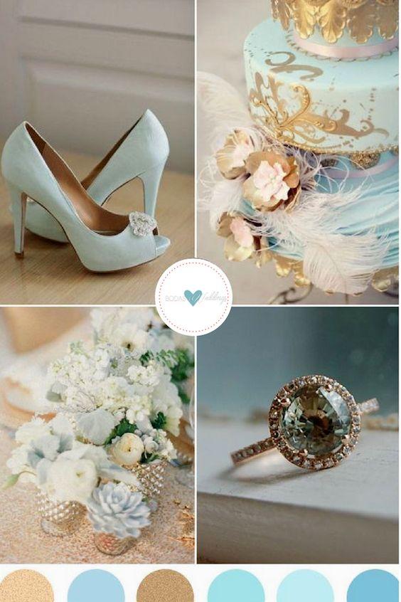 Deja que tu temática dictamine la paleta de colores de tu boda.