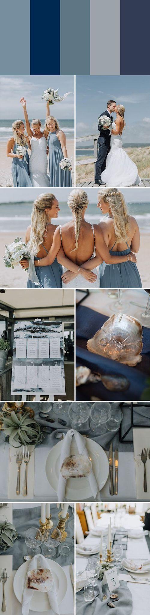 Paleta monocromática en azul. Una solución a la elección de los colores de tu boda. Delicada y perfecta. Foto: Matilda Söderström Photography.