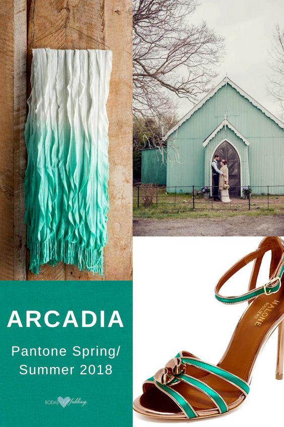 Desde la paleta de colores de pantone 2018 primavera verano: el Arcadia.