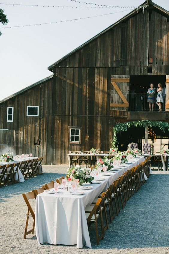 Rustic barn wedding reception. Onelove photography.