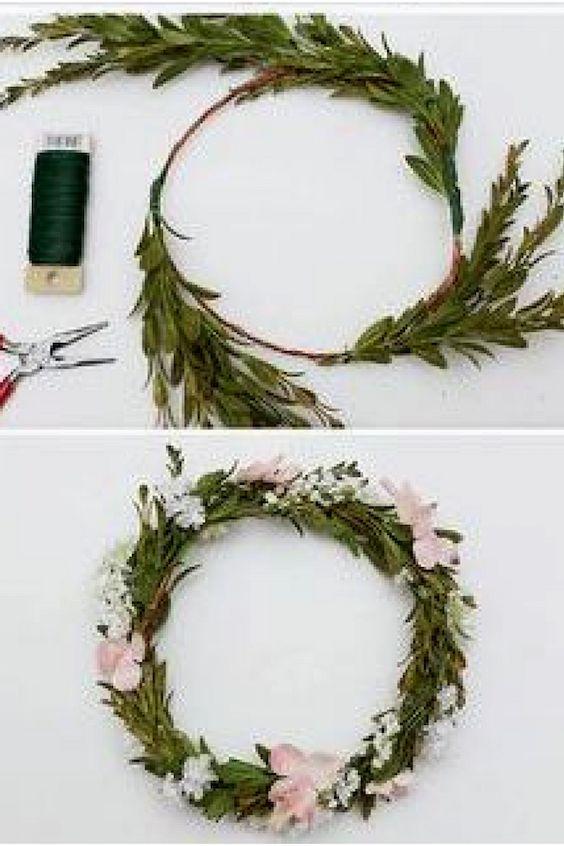 Un tutorial para hacer tu corona de flores.