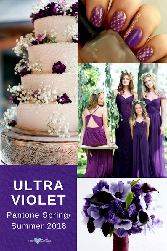 Aunque el ultra violet sea un color reservado para bodas en invierno, este año Pantone lo hace lucir en pleno verano !y son una belleza!