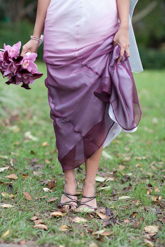 Vestido para damas de honor en ombre.
