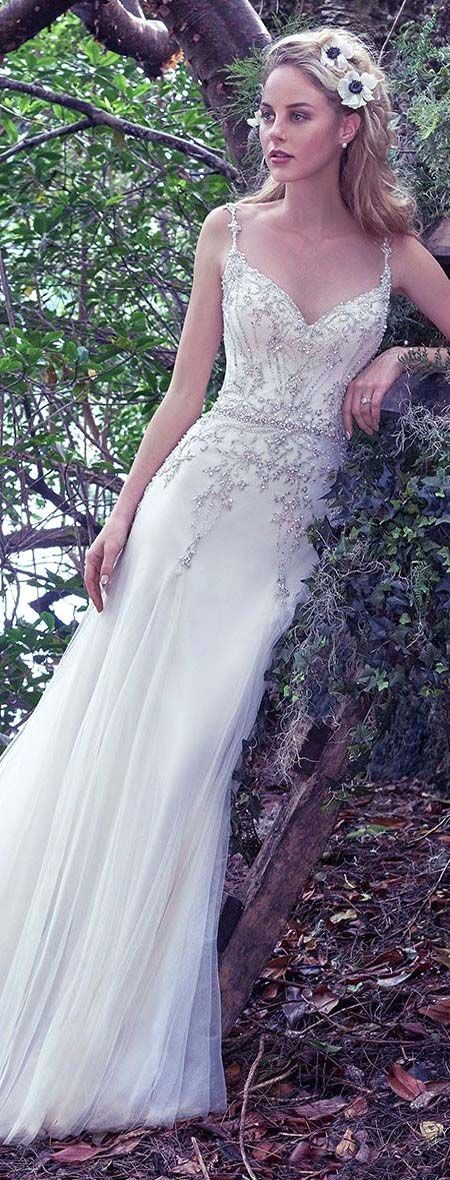 Romantic flow sheath dress perfect for a 2018 woodland wedding.