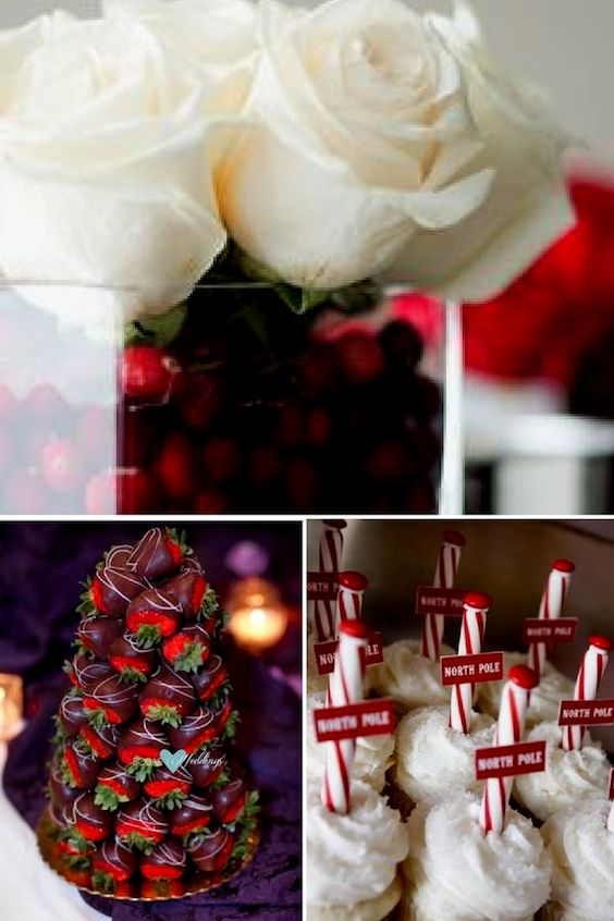 Christmas wedding ideas In red.