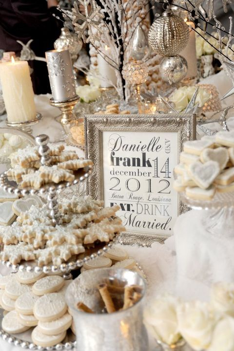 Christmas weddings don't necessarily need to be celebrated on Xmas day. So, just steal some rad winter reception ideas.