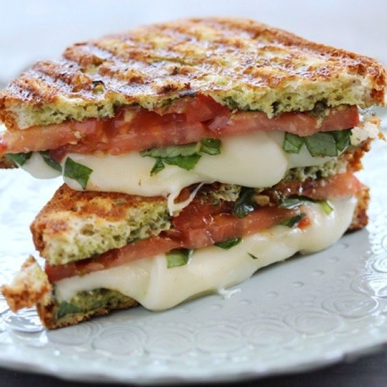 How to organize a bridal shower party with scrumptious Caprese paninis.
