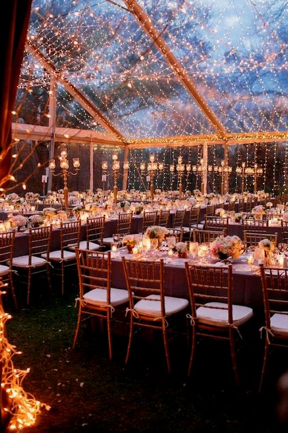 Clear tents and a view of the night sky are definitely on trend for 2018. SMS Photography.
