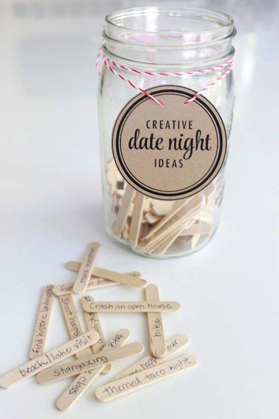 Have the guests write down date night ideas for the bride and groom.