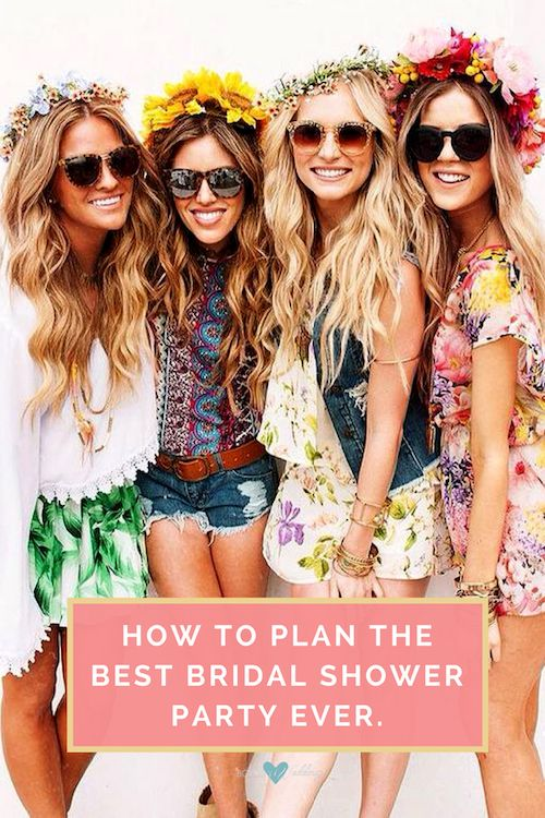 how to plan the best bridal shower party ever