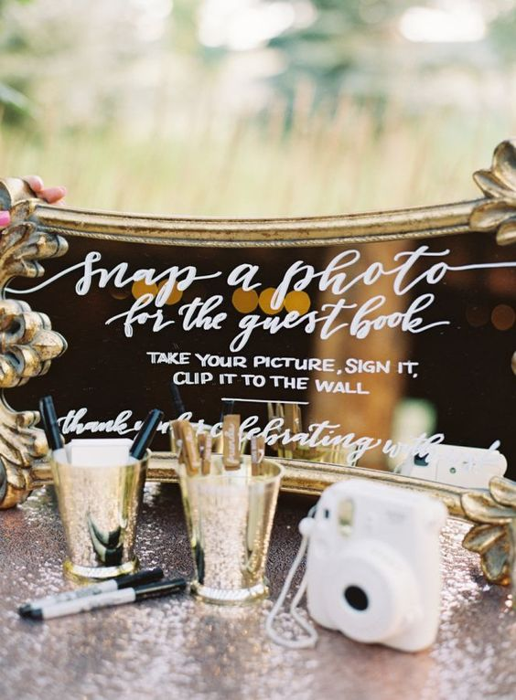 A colorado rustic vintage glam wedding and a very interactive guest book. Bring out the polaroids!