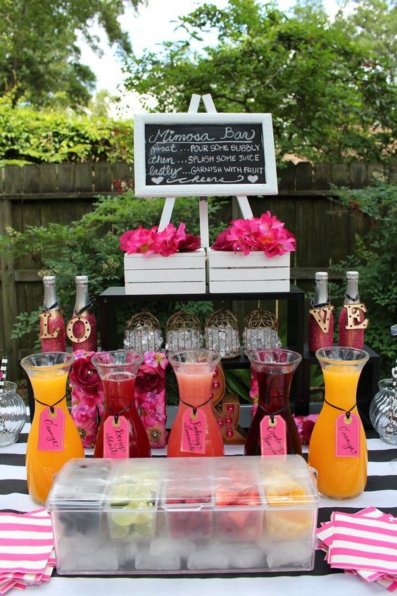 Go fancy with a Kate Spade themed bridal shower food and drink ideas.