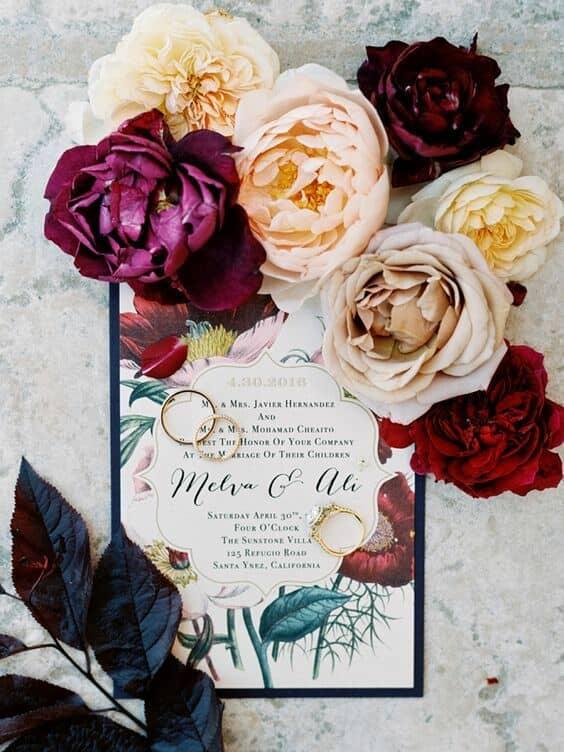 Románticas y modernas acuarelas con motivo floral. Foto: Luna de Mare.