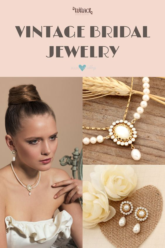 A-line shape dresses are flattering to most body types and give brides a subtle and elegant feel, Complete this classic look with soft and delicate pearl bridal jewelry or vintage jewelry sets.
